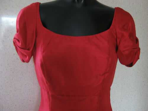 FEARNE COTTON Red Bow Sleeve Dress Mini Party Dress UK Size 10 NEW