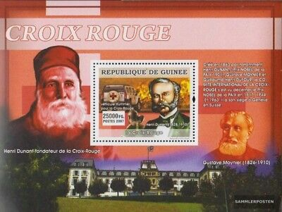Topical Stamps Stamps Guinea Block1373 Postfrisch 2007 Rotes Kreuz Durable Service