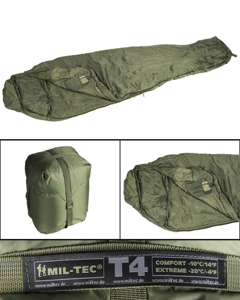 Mil-tec sac de couchage tactical 4 Olive Outdoor survival camping sac de couchage 230x80cm