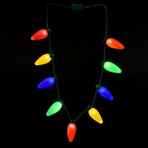 Christmas Bulb Necklace Led Light Up Party Favors Disney