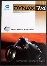 Kamera Reklame Prospekt MINOLTA DYNAX 7xi 7 xi Broschüre Werbung Werbeheft X2716