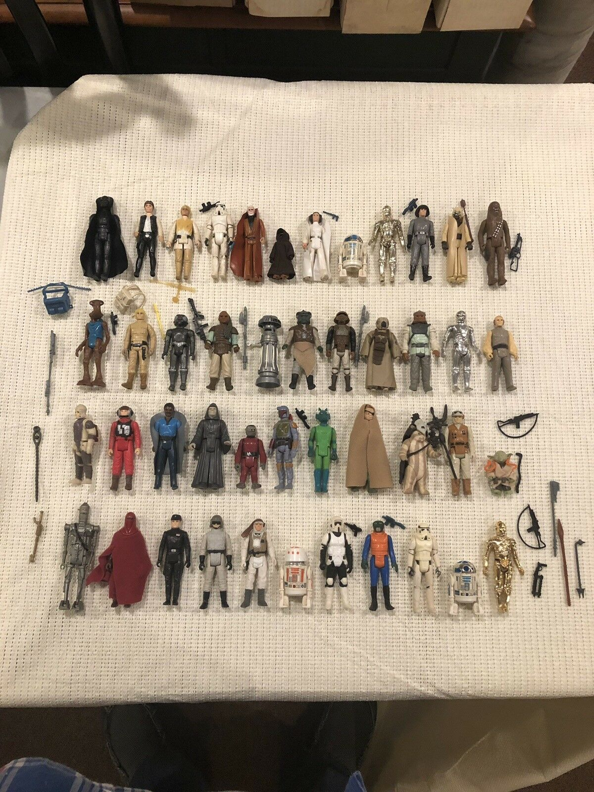 Vintage Star Wars 1977-1984 Figures Lot. Includes Original 12 12 12  No Repro eb8364