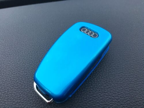 HIGH GLOSS HARD ABS PLASTIC 3 BUTTON KEY FLIP FOB PROTECTOR CASE COVER AUDI A1