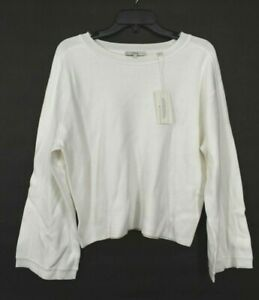 Vince Womens Dolman Sleeve Crop Sweater Pullover Crew Neck Double Face Knit $195