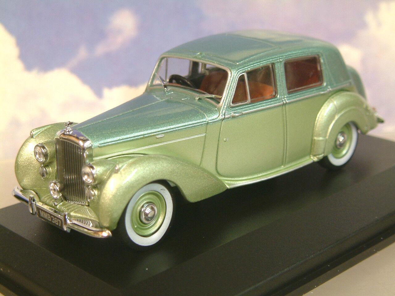 Oxford Diecast 1 43 1946-1952 Bentley Mkvi Mk6 Berline Balmoral   Glace Vert