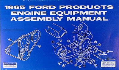 1965 Ford 289 Engine Assembly Manual 65 Galaxie Mustang ...