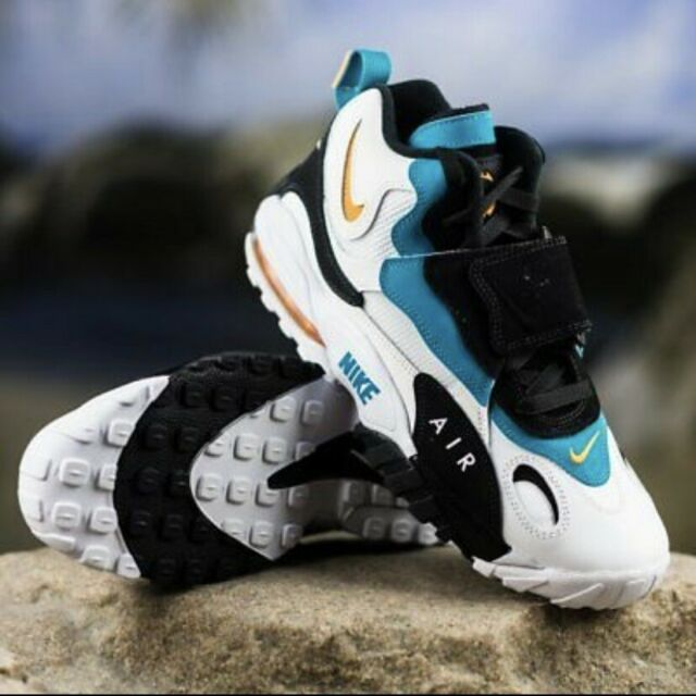 Nike Air Max Speed Turf Miami Dolphins Dan Marino Teal Orange Sz 9 525225 100
