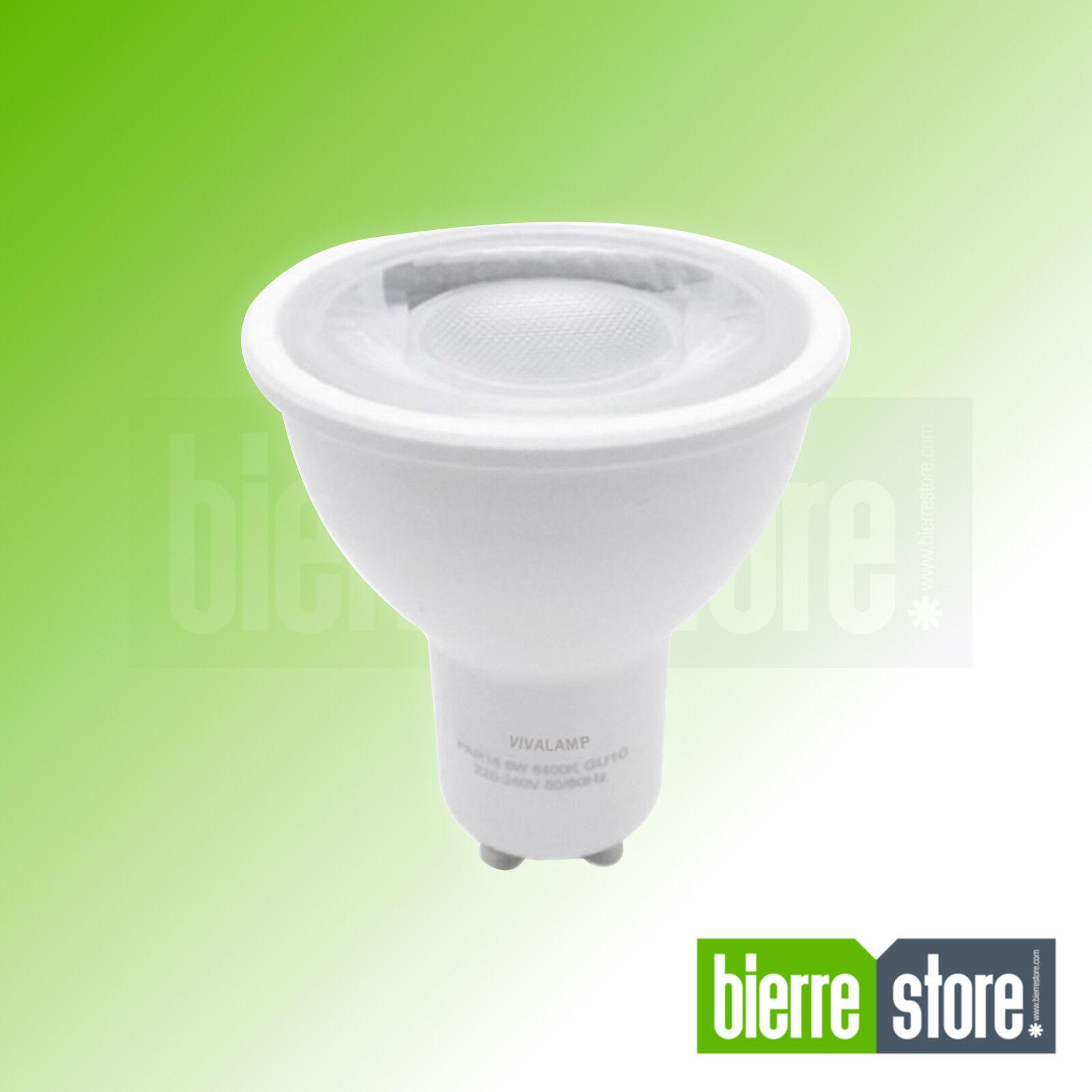 LAMPADINA LED GU10 8W DIMMERABILE PAR16 5 5 5 PEZZI LUCE CALDA 3000K c27685