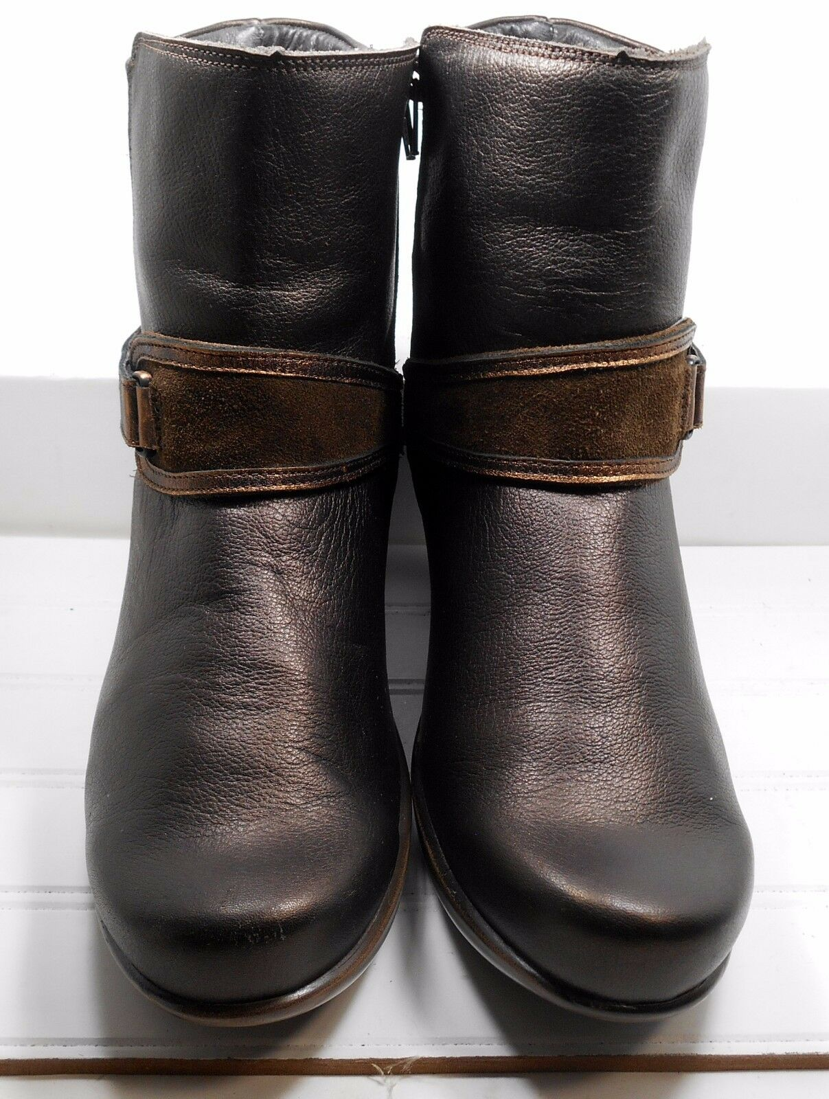 NAOT Godiva Bronze Ankle Boots Comfort Strap US 10 10.5 Light Wear