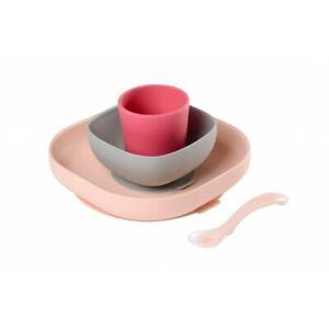 Beaba-Silicone-Meal-Set-4-pcs-Pink