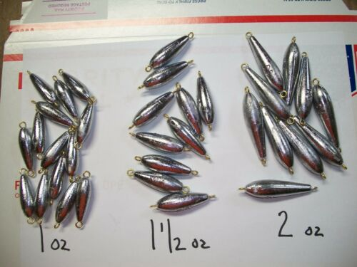 FREE SHIP choice of 6//12//25//50//100 1-1-1//2-2 oz inline Trolling Sinkers