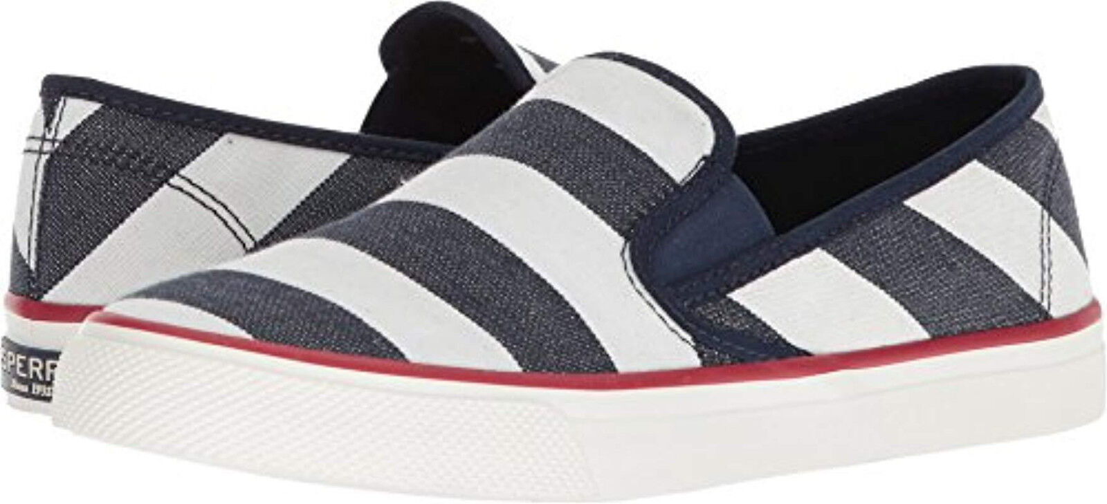Nuevo En Caja Caja Caja Sperry Top-Sider Zapatos Náuticos costeros Bretón MEM Espuma Azul Marino Para Mujer Talla 6-10  ventas calientes