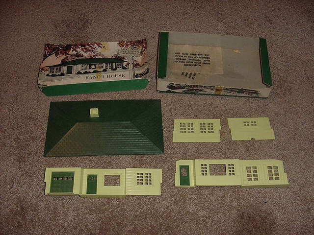 VINTAGE O SCALE GAUGE TRAIN LITTLETOWN LITTLE TOWN RANCH HOUSE 1950s IN BOX RARE