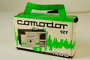 Comodor-127-Fotoapparat-fuer-Filmtyp-127-in-original-Box-Vintage-4x6-5cm-M-2482