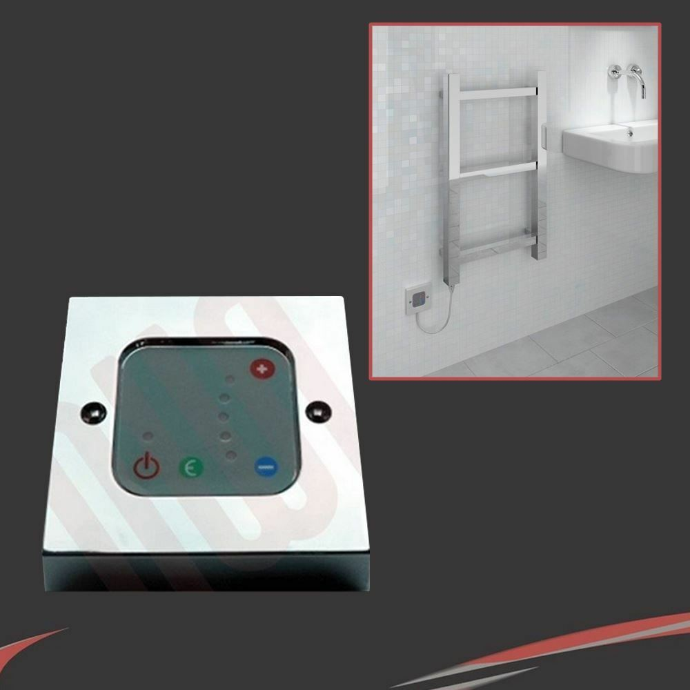 Chrome Thermostatic Wall Controller for use with Electric Heating Elements