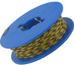 10-Meter-Litze-1x0-14-mm-Grundfarbe-gelb-Ringdruck-5-Farben-deutsche-Qualitaet