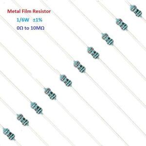 100PC-1-6W-Metal-Film-Resistor-Tolerance-1-Full-Range-of-Values-0-to-10M