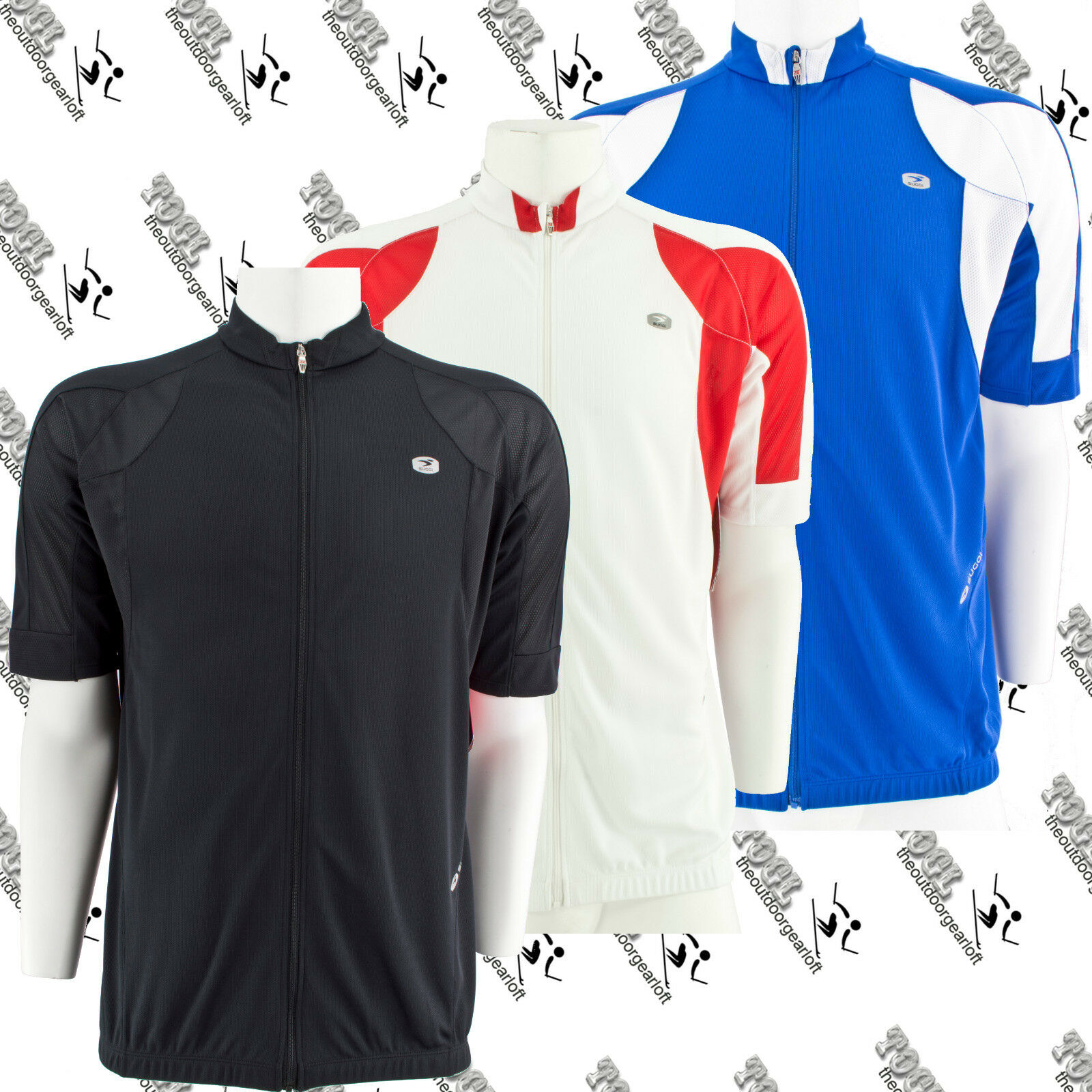 SUGOI GS57766U MENS CYCLING SHORT SLEEVE FULL ZIP EVOLUTION JERSEY LARGE