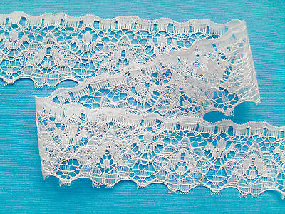 ~Pretty Dove Grey  NOTTINGHAM  Flower Lace  3.3 cm Girl//Cards//Costume
