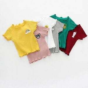 Children-Infant-Kids-Girls-T-shirt-Tops-Blouse-Cartoon-Embroidery-Shirts-Tees