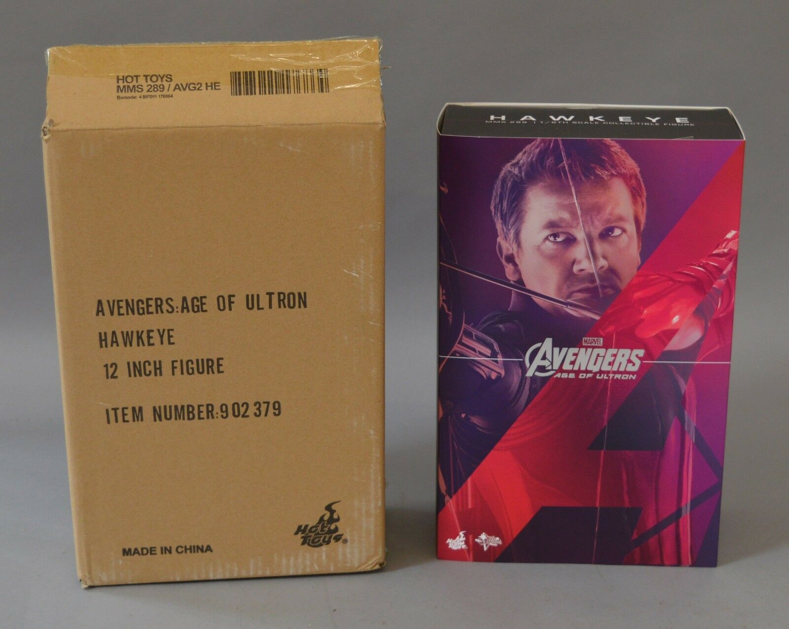 MARVEL Hawkeye Sixth Scale Action Figure Hot Toys Avengers Age of Ultron MMS289