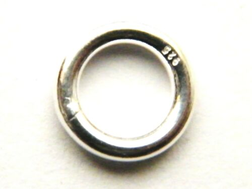 10mm Sterling Silver Jump Ring Extra Heavy for Albert Chain-T-Bars-Swivel Clasp