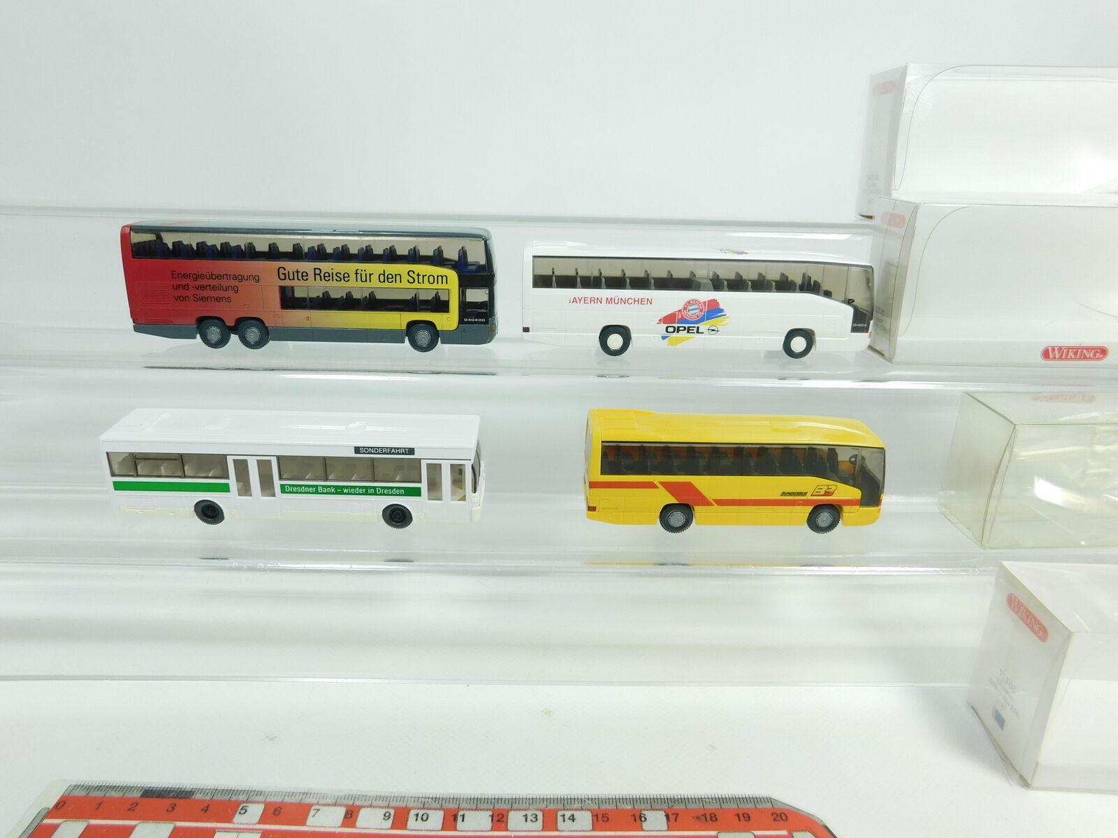 Bd420-0, 5  4x Wiking h0 1 87 bus Mercedes Mb  714 fcb+713+715 etc, S.G. +3x neuf dans sa boîte