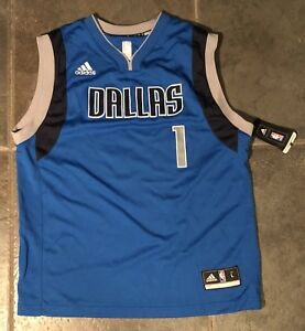 huge discount 3628f e15d9 Details about Dallas Mavericks DENNIS SMITH JR. #1 YOUTH Jersey Size large  New No Tags