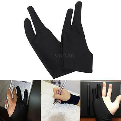 1pc Artist Drawing Two Finger Glove Graphics Drawing Art Student Pen Tablet Pad