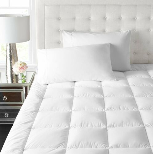 Bed topper mattress down alternative feather bed bed pad bedroom queen size