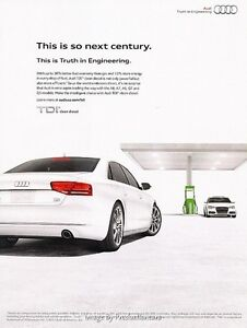 2014 Audi A6 TDI Clean Diesel - Original Advertisement Print Art Car Ad J625
