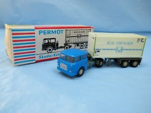 Vintage-PERMONT-1-87-Skoda-Truck-Refrigerated-Container-articulated-Lorry-Toy