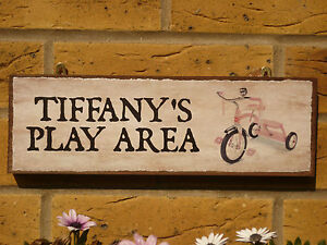 PERSONALISED-GARDEN-SIGN-OUTDOOR-PLAY-AREA-SIGN-GIRLS-BIKES-TRICYCLES-OWN-NAMES
