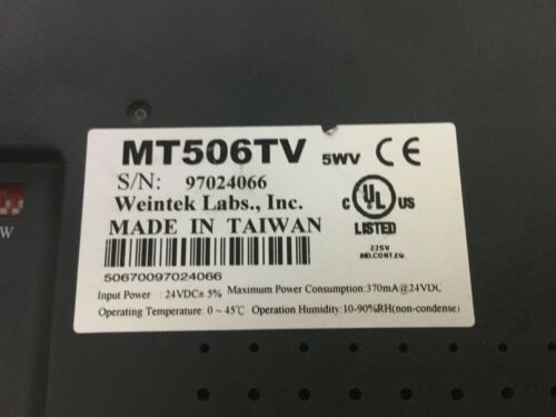 1pcs Used WEINVIEW touch screen MT506TV5WV