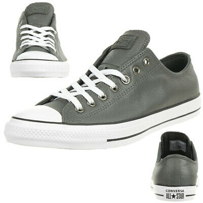 Converse Ctas Ox Chuck Leather Trainers Shoes Carbon Grey 165193C | eBay