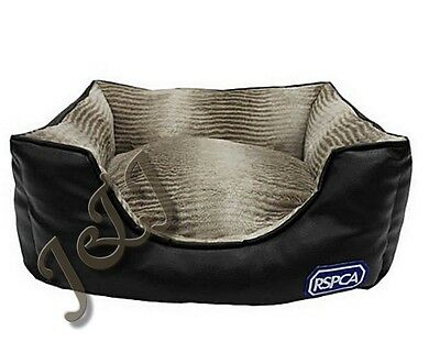 RSPCA Rectangular Luxury Faux Leather Bed.