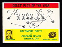 1964 PHILADELPHIA #14 BALTIMORE COLTS' PLAY OF THE YEAR W/DON SHULA
