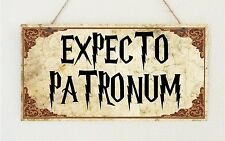 EXPECTO PATRONUM Plaque Sign Gift - Harry Potter Room House Present Door Sign