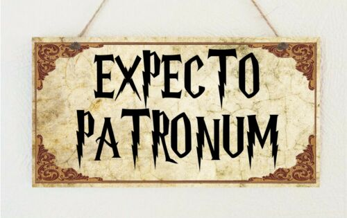 "Expecto Patronum Plaque Sign Gift   Harry Potter Room House Present Door Sign by ""Handmade"""