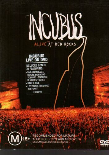 1 of 1 - INCUBUS ALIVE AT RED ROCKS - DVD/CD SET (2004) - VG - FREE POST (CD LIKE NEW)