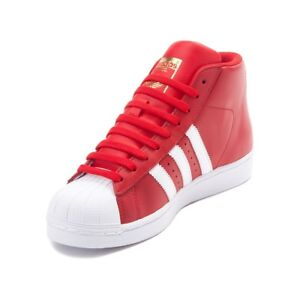 Image is loading ADIDAS-ORIGINALS-PRO-MODEL-GRADE-SCHOOL-RED-WHITE- 2a57bfd07