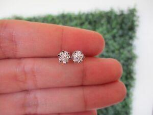 .03 Carat Diamond White Gold Earrings 18k E660 sep