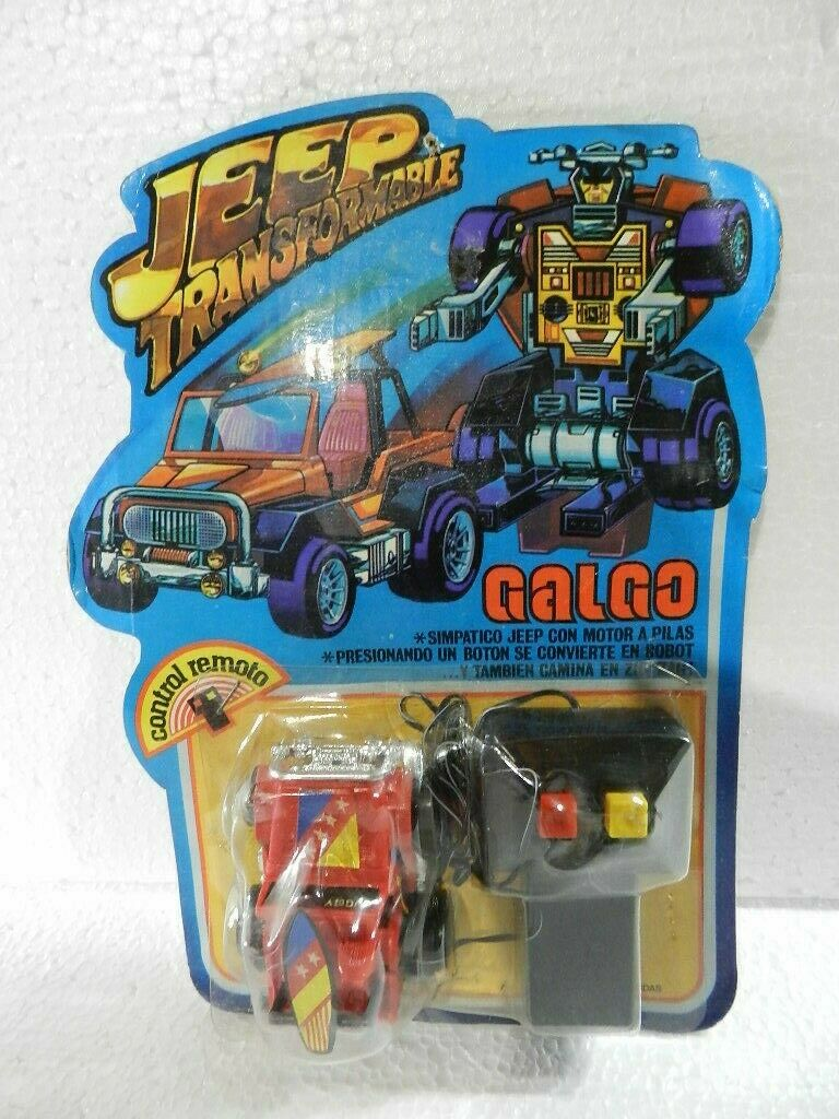 VINTAGE ROBOTS JEEP TRANFORMERS REMOTE CONTROL CONTROL CONTROL BRAND GALGO MADE IN silverINA 82818e