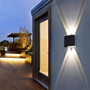 Details About 4 6 8w Modern Ip65 Sconce Outdoor Led Wall Fixtures Lamp Garden Corridor Lights