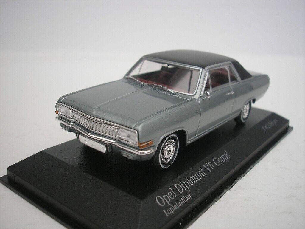 Opel diplomat v8 Coupe 1965 laargentargent 1 43 MINICHAMPS 400048020  NEUF  10 jours de retour