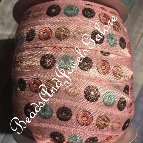 Donut foe inspired donut elastic donut hair ties cake foe donut ribbon dessert
