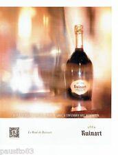 PUBLICITE ADVERTISING 116  2013  le champagne rosé Ruinart