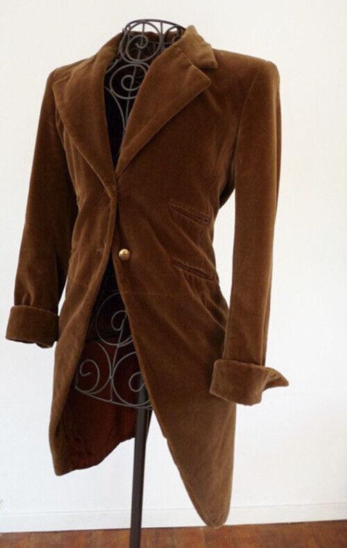Vintage Anna Sui velvet dress Black tailcoat Stea… - image 1