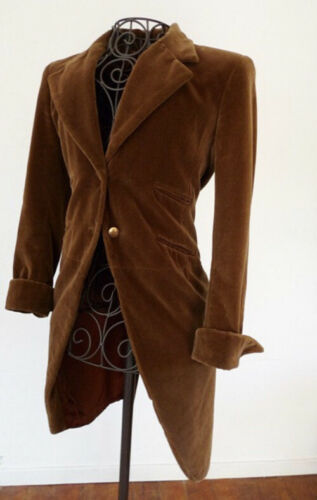 Vintage Anna Sui velvet dress Black tailcoat Steam