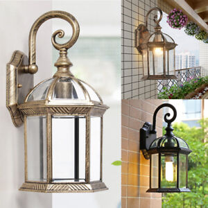 Details About Outdoor Exterior Lantern Sconce Porch Lights Antique Wall Lighting Lamp Fixtures